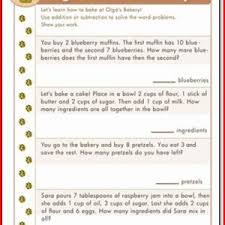 22 gallery of word problem worksheets for 1st grade 1st grade