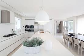 White Interior Design In Modern Sea Shell Home Kitchens - Home modern interior design