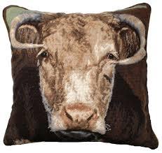 ncu 199 ralph the bull 20 x20 needlepoint pillow