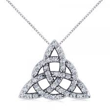 knot pendant necklace images Diamond trinity celtic knot pendant necklace 14k white gold 0 45ct jpg