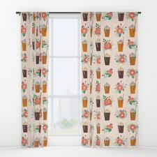 Coffee Print Kitchen Curtains Coffee Pattern Kitchen Curtains Integralbook Com