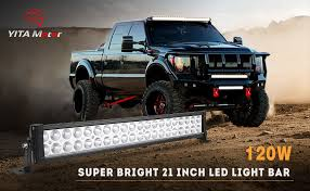 24 inch led light bar offroad amazon com yitamotor led light bar 2pcs 24 inch light bar spot