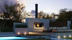 modern fireplace outdoor installation u2014 porch and landscape ideas