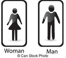 Man Woman Bathroom Symbol Vectors Of Man U0026 Woman Restroom Sign Silhouettes Of Man And Woman