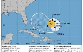 Mexico Hurricane Map Hurricane Jose No Immediate Threat To Florida Miami Herald