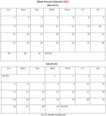 blank annual calendar 2012 calendar templateannual calendar