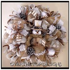 Christmas Wreath Decorations Pinterest by 1000 Ideas About Burlap Christmas Wreaths On Pinterest Burlap