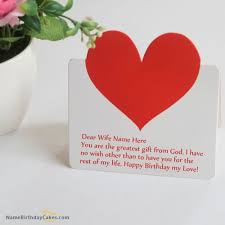 7 best birthday name cards for wife images on pinterest happy