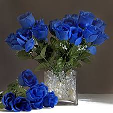 wedding flowers royal blue efavormart 84 artificial buds roses wedding flowers