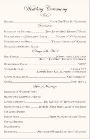wedding programs wording church wedding program wording wedding ceremony wording best 25