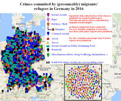Cologne Germany Map by Refugee Migrant Crime Map Of Germany 2016