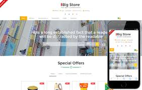 free online home page design big store an e commerce online shopping bootstrap responsive web