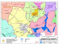 Nevada City Map Clark County Nevada Area Designations For 1997 Ground Level