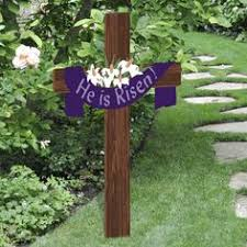 easter religious decorations easter religious outdoor yard decoration wood sign with cross