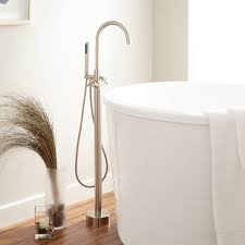 contemporary freestanding tub faucet signature hardware