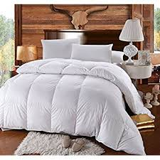 Drying Down Comforter Without Tennis Balls Amazon Com Pinzon Hypoallergenic White Goose Down Feather
