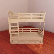 Barbie Bunk Beds Bunk Bed For Barbie Dollhouse Barbie Size 1 6 Scale Vector Model