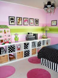 Pink And Black Polka Dot Bedding Kids Room Amazing Kids Bedroom Sets Ideas White Wooden Twin Bed