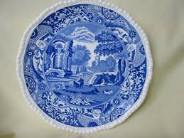 blue white copeland spode plate pattern italian 1930 s from
