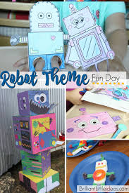 robot theme fun friday brilliant little ideas