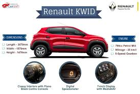 Car Blog Renault Kwid Specifications And Features Infographic