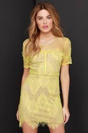 yellow dress chic yellow dress lace dress mesh dress 55 00