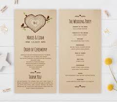 wedding programs cheap rustic wedding programs sunflower wedding