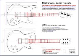 an editable blueprint of a les paul and a stratocaster will serve