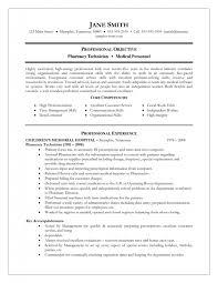 Resume Objective Pharmacy Technician Cover Letter Pharmacy Technician Objective For Resume Objective