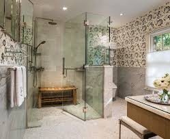 Bathroom Bench Ideas by Shower Bench Ideas With Pendant Lighting Glass Green Accents Rain