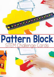 pattern blocks math activities pattern block stem challenge cards free printable pattern blocks