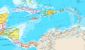 Map Of The Caribbean A Map Of The Caribbean Allegany State Park Map