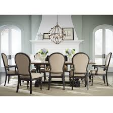 Dining Room Set With Upholstered Chairs by Trestle Table And Upholstered Chair Dining Set By Standard