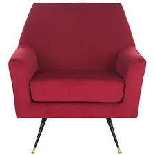 Retro Accent Chair Safavieh Nynette Velvet Retro Mid Century Accent Chair 8445944 Hsn