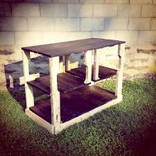 rustic pallet kitchen island media console 99 pallets