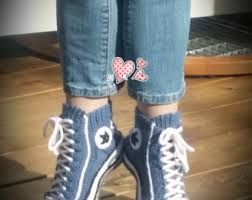 pattern crochet converse slippers reaverse star edition written in swedish slipper sock