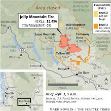 Wenatchee Washington Map by Jolly Mountain Fire Sparks Emergency Evacuations Near Cle Elum