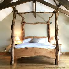 Rustic Wooden Beds 6 Drawer Bed Frame Rustic Oak Four Poster Tree Bed Beautiful