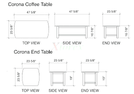 what is the average size of a coffee table standard coffee table height fascinating average coffee table size