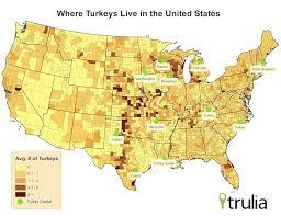 where do turkeys celebrate thanksgiving trulia s
