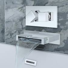 turin wall mounted waterfall bath filler with concealed valve online