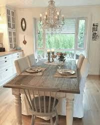 shabby chic dining room table white ornamental flowers modern