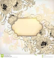 Floral Invitation Card Designs Vector Vintage Floral Invitation Card Stock Vector Image 41823702