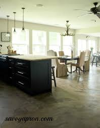 Concrete Kitchen Floor by How We Stained Our Concrete Floors Savvy Apron