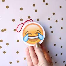 diy emoji christmas ornaments lines across