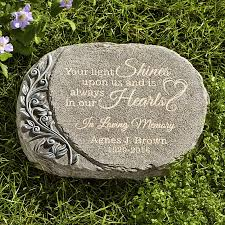 personalized garden stones personalized memorial stones at personal creations
