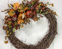 fall wreath etsy