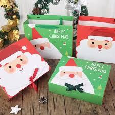 gift bags christmas 2pcs christmas paper gift bags korean gifts bag christmas kids