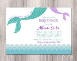 mermaid baby shower invitations baby shower invitation templates mermaid baby shower
