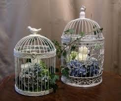 birdcage centerpieces wedding reception floral accents